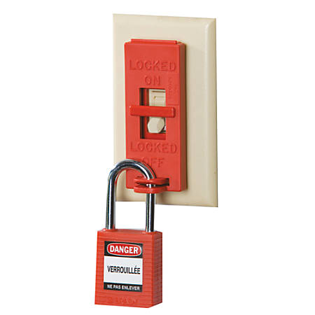 Wall Switch Lock Box, Red