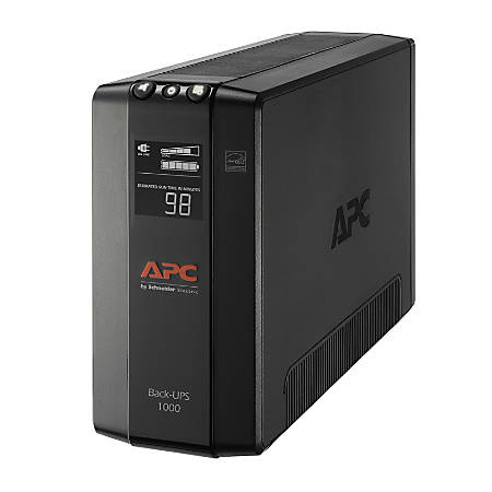 APC® 8-Outlet Uninterruptible Power Supply, 1000VA/600 Watts, BX1000M-LM60