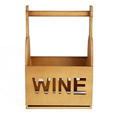 Mind Reader 6 Bottle Wooden Wine