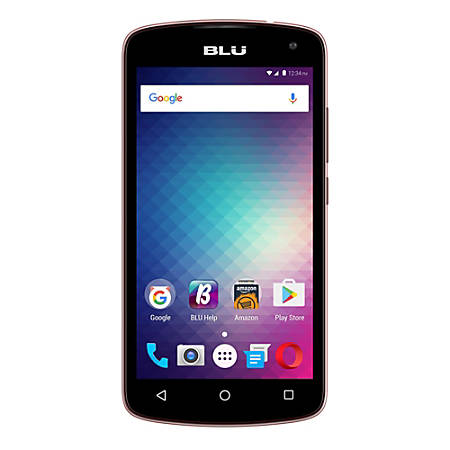 BLU Studio G2 HD S550Q Unlocked GSM Quad-Core Phone, Rose Gold, PBN201164