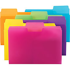 Smead SuperTab Poly File Folders Letter