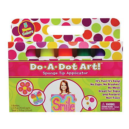 Do-A-Dot Art!™ Fluorescent Sponge Tip Markers