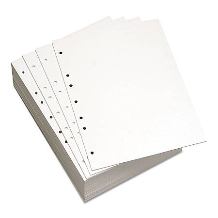 Willcopy® Custom Cut Sheets, Letter Size, Prepunched Left, 7-Hole, 20 Lb, 500 Sheets Per Ream, Pack Of 5 Reams