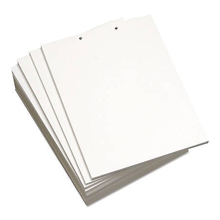 Willcopy® Custom Cut Sheets, Letter Size, Prepunched Top, 2-Hole, 20 Lb, 500 Sheets Per Ream, Pack Of 5 Reams