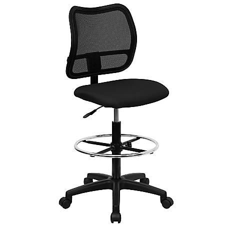 Flash Furniture Mid-Back Mesh Drafting Chair, Black