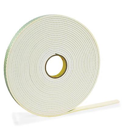 """3M® 4462 Double Sided Foam Tape, 1/2"""" x 5 Yd., White, 1/32"""""""