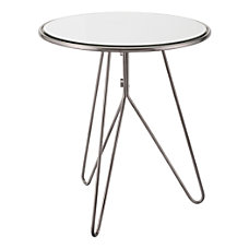 Zuo Modern Mirrored End Table Round