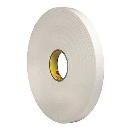 "3M® 4462 Double Sided Foam Tape, 1"" x 5 Yd., White"