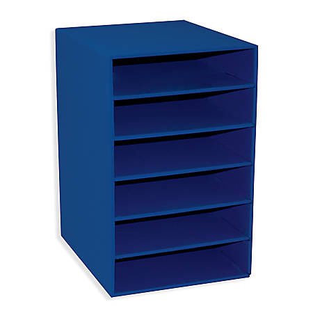 Pacon® Classroom Keepers 6-Shelf Organizer, Blue