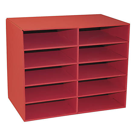 Pacon® Classroom Keepers 10-Shelf Organizer, Red