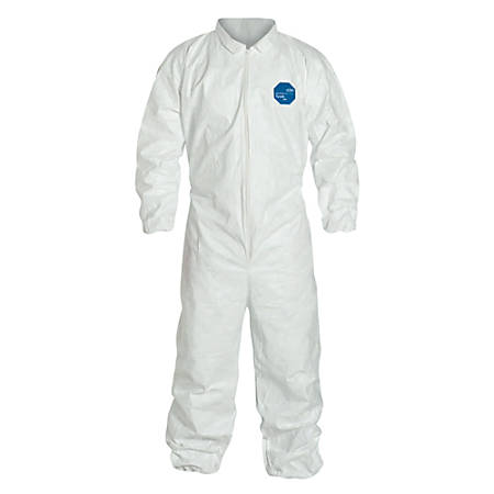 DuPont™ Tyvek® Coveralls With Elastic Wrists And Ankles, 4X, White, Pack Of 25 Coveralls