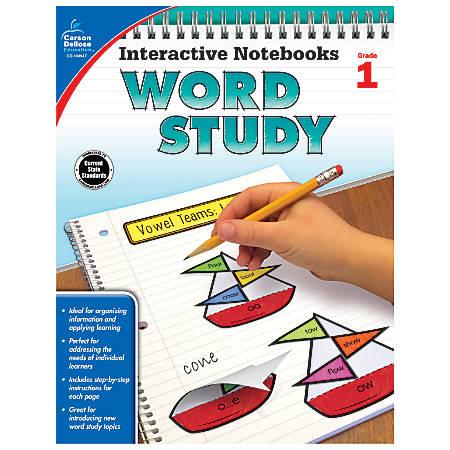 Carson-Dellosa Interactive Notebooks Word Study Books, Grade 1