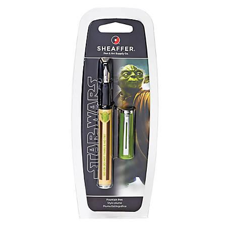 Sheaffer® Star Wars Fountain Pen, Medium Point, 0.43 mm, Yoda Design Barrel, Black Ink