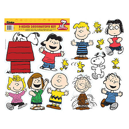 Eureka 2-Sided Decorations, Peanuts® Classic Characters, Multicolor, Pre-K To Grade 8, Pack Of 15