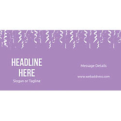 Custom Horizontal Banner Confetti Ribbons