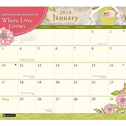 orange circle studio monthly magnetic calendar pad 9 12 x 8 12 where