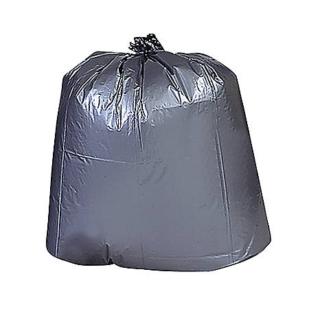 "Genuine Joe Maximum Strength Trash Can Liners, 33 Gallons, 33"" x 40"", Black, Box Of 100"