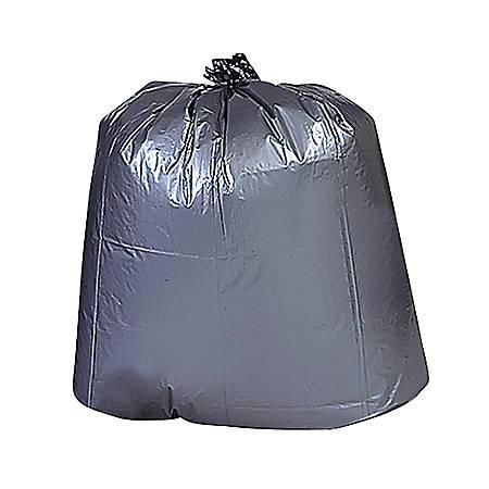 "Genuine Joe Maximum Strength Trash Can Liners, 45 Gallons, 39"" x 46"", Black, Box Of 50"