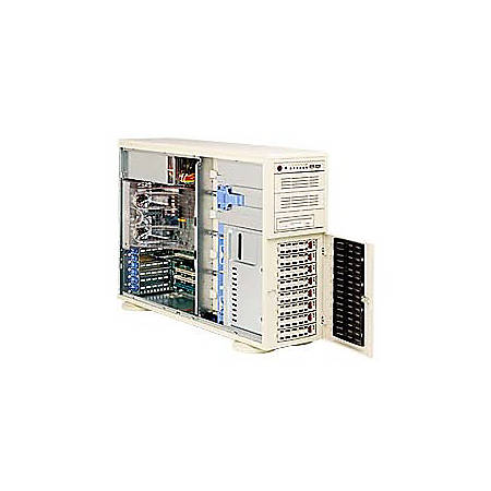 Supermicro A+ Server 4020A-8R Barebone System - AMD 8131 - Socket 940 - Opteron (Dual-core) - 16GB Memory Support - Gigabit Ethernet - 4U Rack