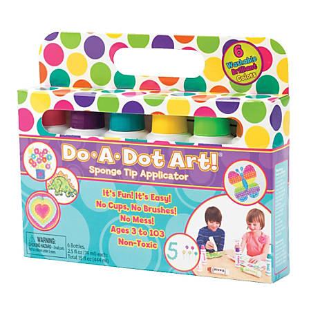 Do-A-Dot Art!™ Washable Brilliant Sponge Tip Markers, 6 colors