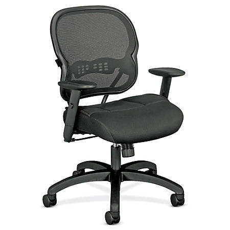 basyx by HON® VL712 Mid-Back Mesh Task Chair, Black