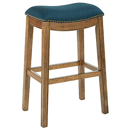 Ave Six Austin Barstool, Klein Azure/Mocha/Antique Bronze