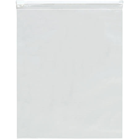 "Office Depot Brand 3 Mil Slide-Seal Reclosable Poly Bags 14"" x 10"", Box of 100"