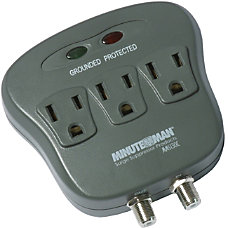 Minuteman 3 Outlets Surge Suppressor Receptacles