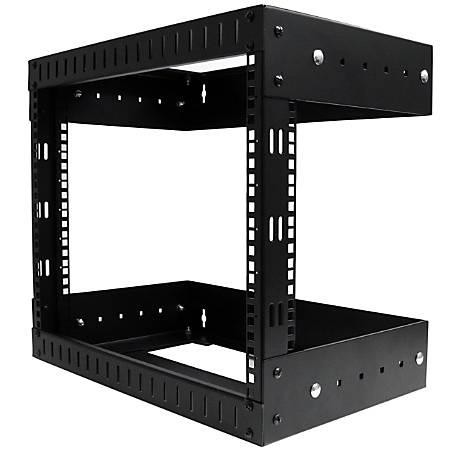 StarTech.com 8U Open Frame Wallmount Equipment Rack - Adjustable Depth