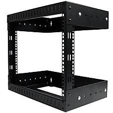 StarTechcom 8U Open Frame Wallmount Equipment