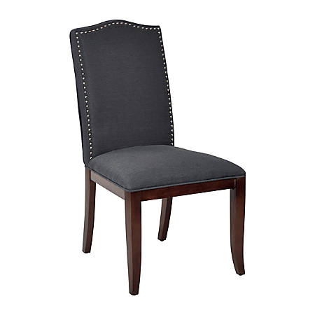 Ave Six Hanson Dining Chair, Klein Charcoal/Espresso