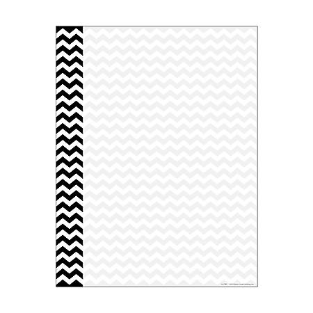 "Barker Creek Computer Paper, 8 1/2"" x 11"", Black Chevron, Pack Of 50 Sheets"