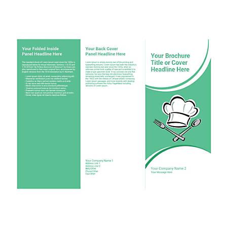Customizable Trifold Brochure, Green Chef Cap