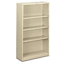 HON Brigade Steel Bookcase 4 Shelves