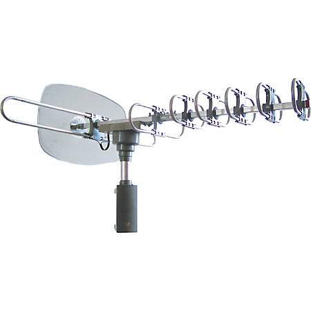 Supersonic 360º HDTV Digital Amplified TV Motorized Rotating Antenna - Upto 120 Mile - 28 dB - Satellite HDTV, Radio Communication