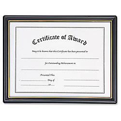 Nu Dell Plastic Framed Award Certificate