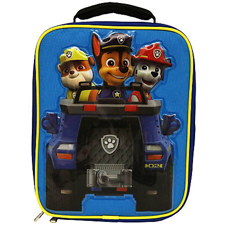 """Paw Patrol Insulated Lunch Kit With Padded Handle, Boys', 9 1/2""""H x 7 1/2""""W x 3 1/2""""D, Blue"""