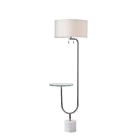 """Adesso® Sloan Shelf Floor Lamp, 65""""H, White"""