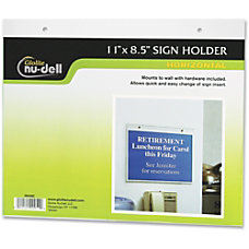 NuDell Acrylic Sign Holder 11 x