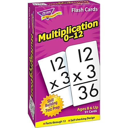 Trend® Skill Drill Flash Cards, Multiplication, Set Of 91