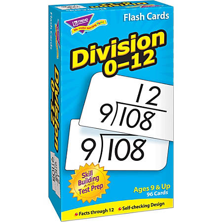 Trend® Skill Drill Flash Cards, Division, Set Of 91