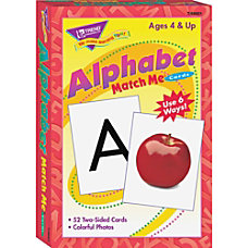 Trend Alphabet Match Me Flash Cards
