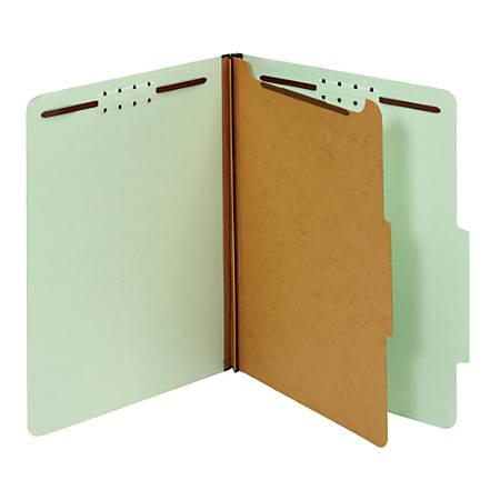 "Office Depot® Brand Classification Folder, 1 3/4"" Expansion, Letter Size, 1 Divider, Light Green"