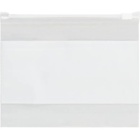 """Office Depot Brand 3 Mil Slide-Seal Reclosable White Block Poly Bags 12 1/2"""" x 9"""", Box of 100"""