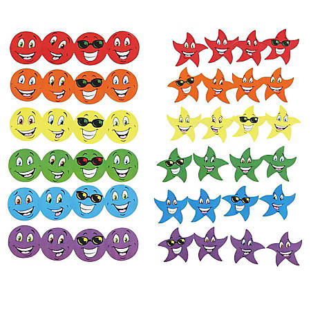 TREND Stinky Stickers, Smiles And Stars, Assorted, Pack Of 648