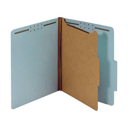 "Office Depot® Brand Classification Folder, 1 3/4"" Expansion, Letter Size, 1 Divider, Light Blue"