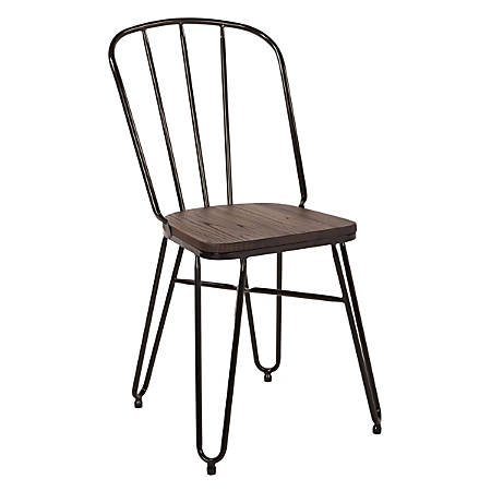 Office Star™ Charleston Folding Chairs, Black, Set Of 2 Chairs
