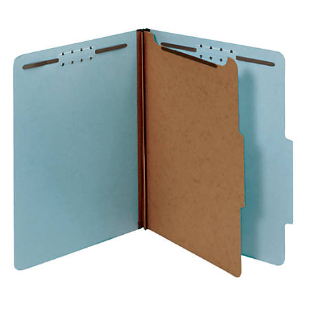 "Office Depot® Brand Classification Folder, 1 3/4"" Expansion, Legal Size, 1 Divider, Light Blue"