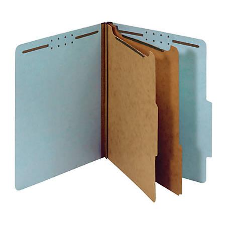 "Office Depot® Brand Classification Folder, 2 1/2"" Expansion, Letter Size, 2 Dividers, Light Blue"
