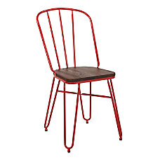 Office Star Charleston Folding Chairs Red